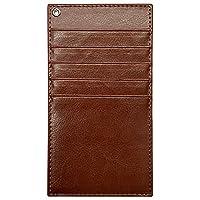 インナー カードケース (ブラウン) カード入れ 長財布用 ウォレットイン PUレザー カラフル 収納 スリム 薄型 かわいい おしゃれ オシャレ sslink