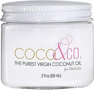 COCO & CO. Organic Pure Extra Virgin Coconut Oil for Hair & Skin, Beauty Grade - Mini Jar, 2oz