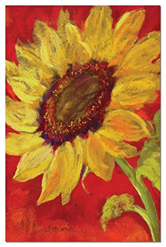 Tree-Free Greetings Sunflower Prima Donna Blank Boxed Note Cards with Envelopes, All Occasion (12 Count), Cute Floral Stationery Notecards, FS66584 (66584)