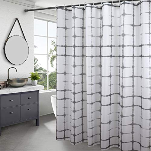 EurCross Duschvorhang 3D-Druck, Polyester, Diamant-Quadrat, 178 x 180cm