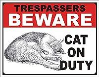 レトロおかしい金属錫サイン8 x 12インチ(20 * 30 cm)子猫 ブリキ看板警告通知パブクラブカフェホームレストラン壁の装飾アートサインポスター(gs-1-194)