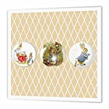 3dRose ht_99146_3 Peter Rabbit and Friends Stories Vintage Art Iron on Heat Transfer for White Material, 10 by 10-Inch
