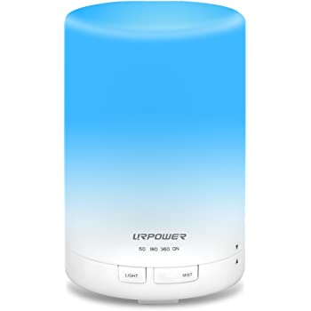 URPOWER 2Nd Generation 300Ml Aroma Essential Oil Diffuser Ultrasonic Air Humidifier With Auto Shut Off And 6 7 Hours Continuous Diffusing 7 Color