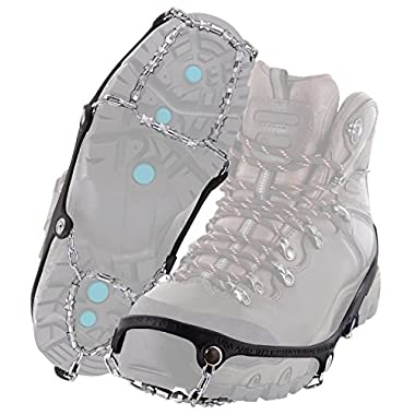 Yaktrax Diamond Grip All-Surface Traction Cleats for Walking on Ice and Snow, Large
