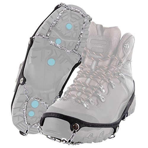 Yaktrax Diamond Grip All-Surface Traction Cleats for Walking on Ice and Snow (1 Pair), Large