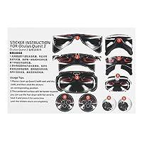 VRコントローラーヘッドセットステッカー、VRヘッドセットPVCステッカーQuest 2Vrゲームコントローラー用超薄型Quest2Vrゲームコントローラー用ヘッドセット