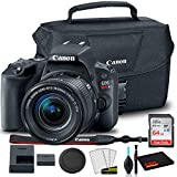 Canon EOS Rebel SL2 DSLR Camera with 18-55mm Lens (Black) (2249C002) + Canon EOS Bag + Sandisk Ultra 64GB Card + Clean and Care Kit (International Model)
