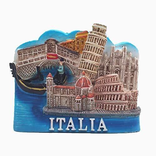 Colosseo di Firenze, Torre Pendente di Pisa, Venezia, Duomo di Milano d'Italia 3D frigorifero magnete Turistico Souvenir Regalo Sticker Magnetico Collezione