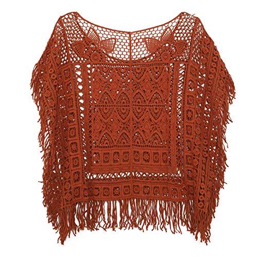 Crochet Blouse Shirt Hollow Out