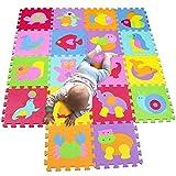 MQIAOHAM alfombra infantil puzzle bebe suelo goma eva parque juego niños foam...