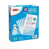 Sheet Protectors, Holds 8.5 x 11 inch Sheets, 9.25 x 11.25 inch Top Loading, Clear, Reinforced 11-Hole, Acid-Free, Archival Safe for Documents and Photos (500 Sheets)