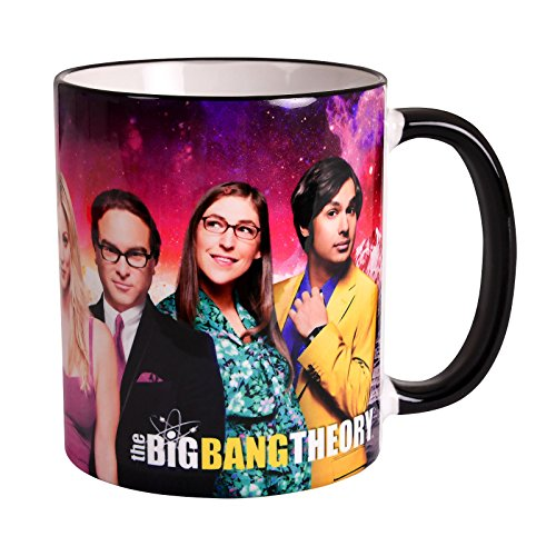 Elbenwald Big Bang Theory Tasse Charakter Collage Rundumdruck 320 ml Keramik