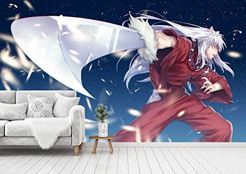 3D Print Anime Wallpaper Mural Wall Mural Wallpaper Cosplay Wall Painting Living Room Bedroom Office Hallway Decoration Wall Decoration Inuyasha 260 x 175 cm (W x H)