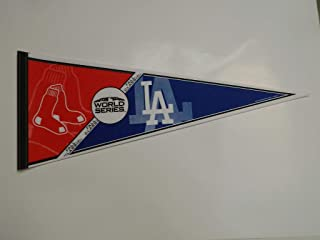 FALL CLASSIC 2018 BOSTON RED SOX VS LOS ANGELES DODGERS WORLD SERIES PENNANT FULL SIZE 30 X 14