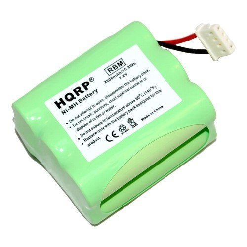 HQRP 2200mAh Extended Battery compatible with iRobot Mint 4205, Braava 320, Braava 321, 4408927 Automatic Hard Floor Cleaner Robotic Vacuum + Coaster