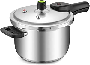 Home Cooking & Dining Cookware Pressure Cookers 304 Stainless Steel Pressure Cooker Small Household Gas Induction Cooker 2-3-5 People 20cm 22cm 24cm Home Kitchen Pressure Cookers (Size : 5.5L)