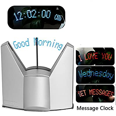 BEST4UBUY LED Dynamic Display Programmable Message Clock