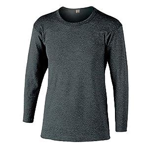 おたふく手袋 ボディータフネス 発熱・保温 テックサーモ インナーシャツ 長袖丸首 モクグレー M JW-169