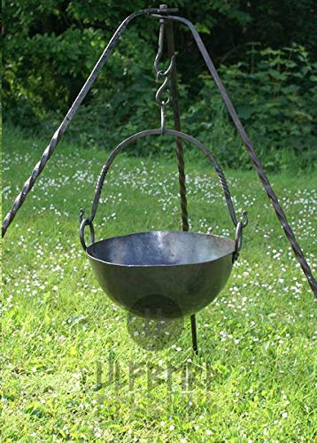 Ulfberth Ronde lagerpan van staal goulashketel Middeleeuwse opslagruimte LARP Viking pot opslagkeuken 2,5 liter of 7,5 liter