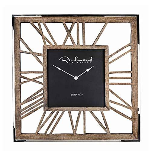 Richmond Interiors - Wanduhr - Uhr - Everson - Maße (LxBxT): 75 x 75 x 5 cm