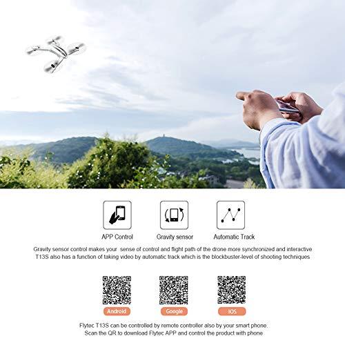 Omabeta FPV Telecomando Quadcopter Mini Drone Pieghevole Interazione Genitore-Figlio Regalo per Principianti e Bambini(Bianco)