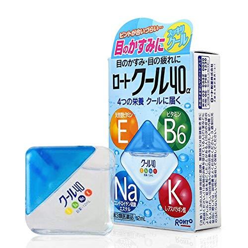 2 x VRohto Vitamin B6 K Na E (Blue) Eye Drops 13ml for Blurry Fatigue Eyes - Made in Japan