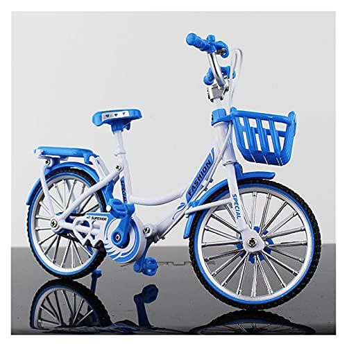 Mini 1:10 Alloy Bicycle Model Diecast Metal Finger Mountain Bike Racing Toy Bend Road Simulation Collection Toys For Children (Color : Pink)