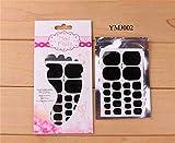 Nail Art Sets Women 1 Sheet Glitter Toenail Art Polish Stickers Nail Tips Lima de uñas Pure Color Adhesive Wraps Manicure Decal Strips-YMJ002-