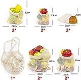 Orthland 11er Set Wiederverwendbare Obst- und Gemüsebeutel