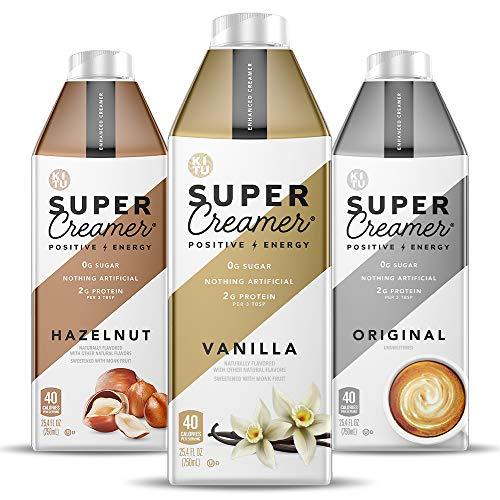 Kitu Super Coffee Creamer | 0g Added Sugar, 2g Protein, 40 Calories [Variety Pack] 25.4 Fl Oz, 3...