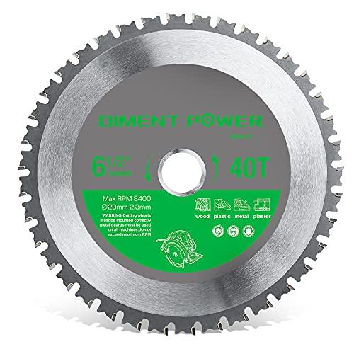Diment Power Hoja de sierra circular, adecuada para sierra circular de 165 mm, utilizada para cortar acero, aluminio