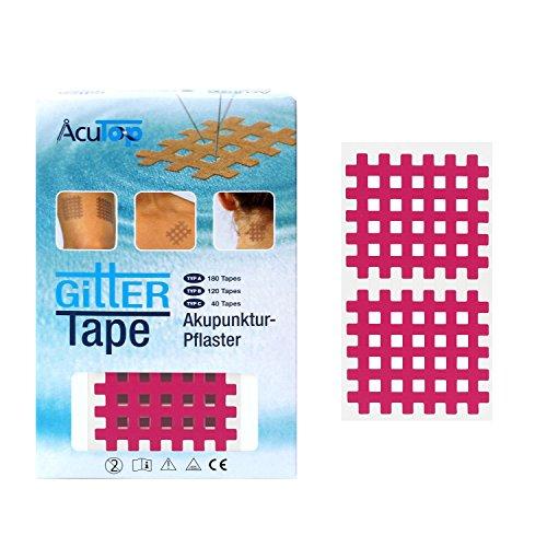 AcuTop Typ C, Gitter Tape, pink - 40 Tapes, Akupunktur Pflaster, Gitterpflaster