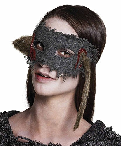 Maschera Horror con topo infilzato