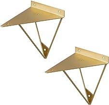 GAXQFEI Prism plankbeugels, multifunctionele muurbevestiging geometrische beugels voor drijvende plank, industriële metale...