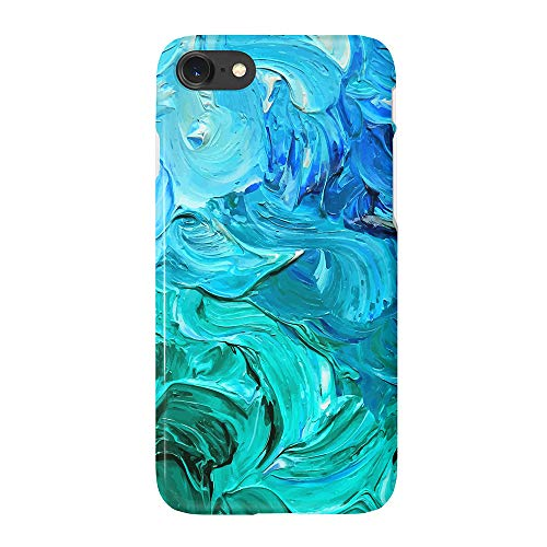 "uCOLOR Watercolor Blue Turquoise Case for iPhone 6s 6 iPhone 7/8 /SE 2nd (2020) Cute Case Soft TPU Protective Case for iPhone 6S/6/7/8 SE(4.7"")"