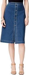 Style & Co. Petite Button-Front Denim Skirt