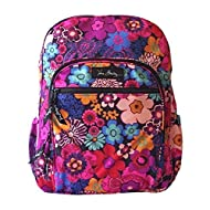 Vera Bradley Lighten Up Campus Backpack (Floral Fiesta)