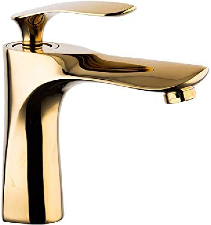 Wasserhahn-Einhand-Waschbecken Bad Mischbatterie Luxus Waschbecken Wasserhahn Gold Waschbecken Waschbecken Waschtischarmaturen kaltes und warmes Wasser