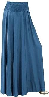 SkirtsforWomen's Plus Size Solid Flare Hem High Waist Midi Skirt Sexy Uniform Pleated Skirt