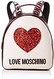 Love Moschino - Nappa Pu Mix, Mujer, Multicolor (Nero/Avorio), 15x10x15 cm (W x H L)