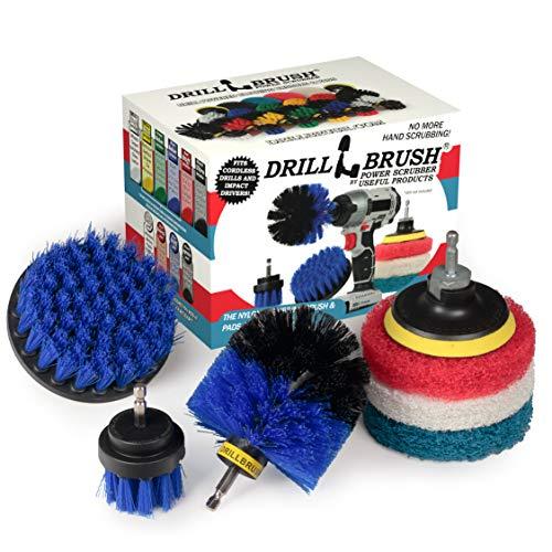Cleaning Supplies - Drillbrush - Brush Drill Attachment Kit - Drill Brush Pads - Hot Tub Cleaner Brush - Pool Cleaner Brush - Scrub Brush - Power Cleaning Brush - Rotary Drill Brush Cordless Scrubber