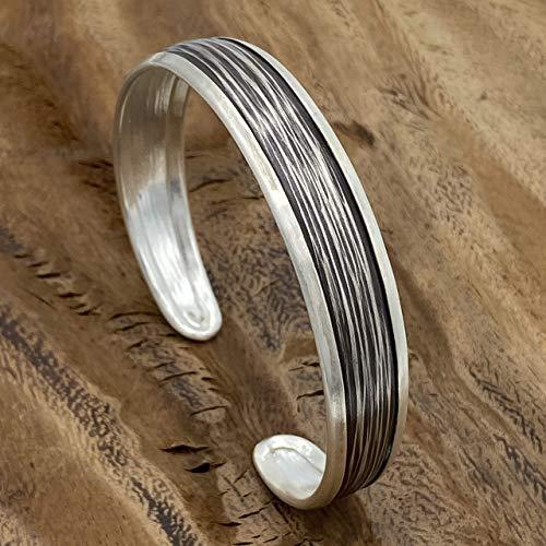 Sterling Silver Cuff Bracelet Cuff Bangle for Women Hammered Bracelet Silver Bracelet Handmade in UK Gift Open Bracelet Woven Bangle