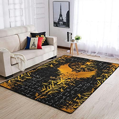 Haushalt Wikinger und Rabe Teppich Luxus -Rabe Hohe Qualität Decken White 122x183cm