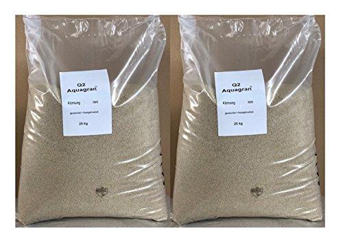 Aquagran 2 x 25 kg Filtersand 0,4-0,8 mm Quarzsand für Sandfilteranlage Poolfilter
