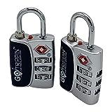 GoTrippin Metal Luggage Locks (Set of 2) (Multicolored TSALOCK)