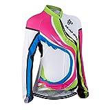 Mujer Ropa Ciclismo Jersey Manga Larga para Mujer, Camiseta de Ciclistas Cómodo Respirable Bicicleta Desgaste