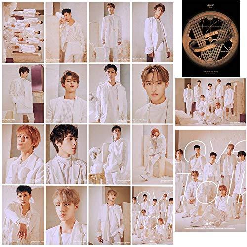 Lecheng Koreanisch EXO TAEYEON AOA WayV SHINee ASTRO SIEBZEHN Kim Hyun EIN ZWEIMAL MAMAMOO IU Fotokarte Fotobuch Poster Lomo Karten Geschenk für Fans(WayV)