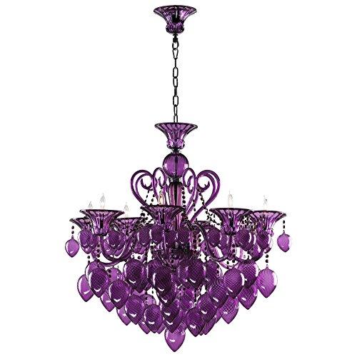 Cyan Bella Vetro Chandelier 02996 Purple