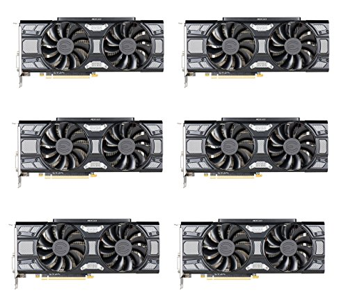 6 Pack EVGA GeForce GTX 1070 SC
