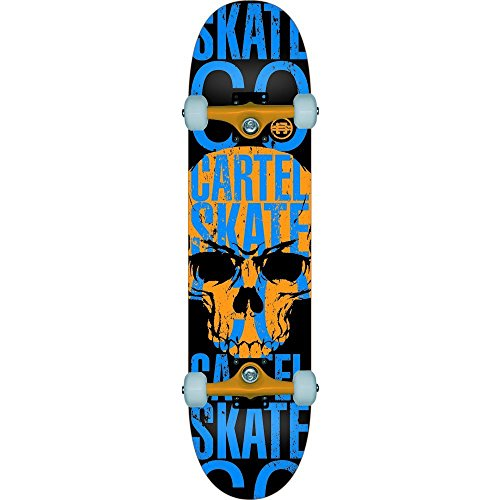 Cartel Skull Skateboard Lite Orange/Blau 7,8